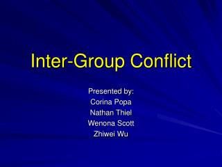 Inter-Group Conflict