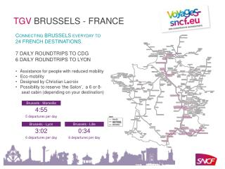 Connecting BRUSSELS everyday to  24 FRENCH DESTINATIONS.