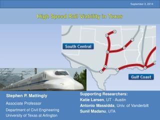 High Speed Rail Viability in Texas