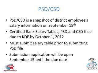 PSD/CSD