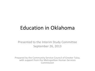 Education in Oklahoma