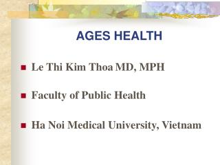 AGES HEALTH
