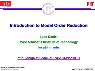 Introduction to Model Order Reduction