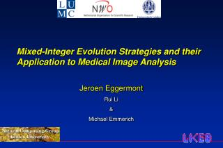 Mixed-Integer Evolution Strategies and their Application to Medical Image Analysis