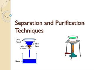 Separation and Purification Techniques