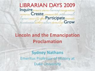 Lincoln and the Emancipation Proclamation