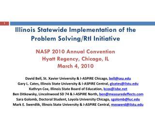 David Bell, St. Xavier University & I-ASPIRE Chicago,  bell@sxu