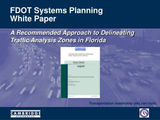FDOT Systems Planning White Paper
