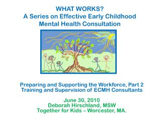 WHAT WORKS? A Series on Effective Early Childhood Mental Health Consultation