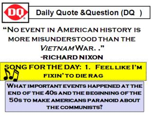 """No event in  American History is more misunderstood than the Vietnam War."" -Richard Nixon"