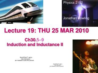 Lecture 19: THU 25 MAR 2010