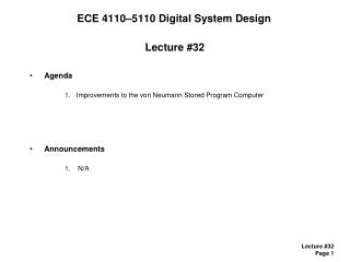 ECE 4110–5110 Digital System Design
