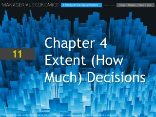 Chapter 4 Extent (How Much) Decisions