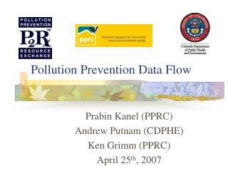 Pollution Prevention Data Flow