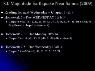 8.0 Magnitude Earthquake  Near Samoa  ( 2009)