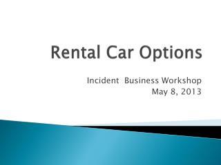 Rental Car Options