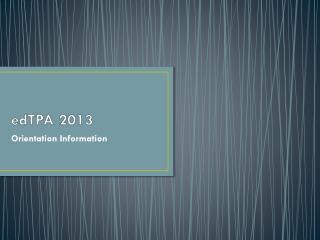 edTPA  2013