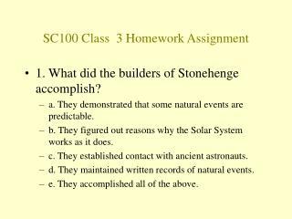 SC100 Class  3 Homework Assignment