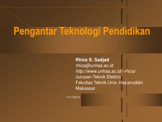 Pengantar Teknologi Pendidikan