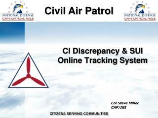 CI Discrepancy & SUI Online Tracking System