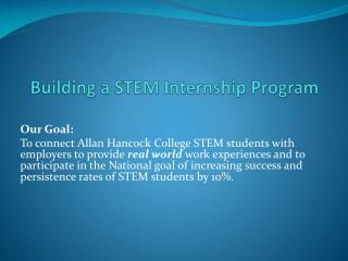 Building a STEM Internship Program