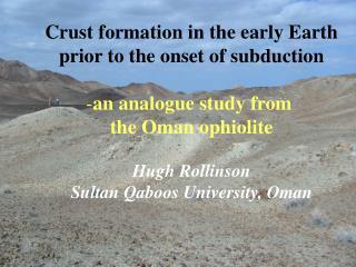 Crust formation in the early Earth prior to the onset of subduction an analogue study from