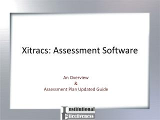 Xitracs: Assessment Software