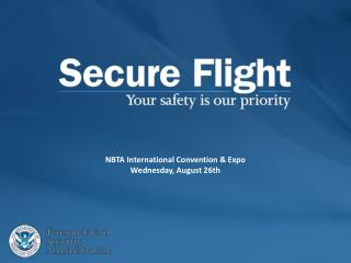 NBTA International Convention & Expo  Wednesday, August 26th