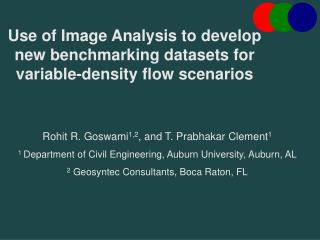 Use of Image Analysis to develop new benchmarking datasets for variable-density flow scenarios