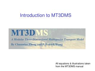 Introduction to MT3DMS