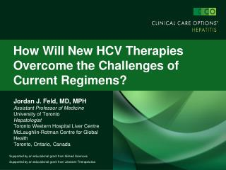 How Will New HCV Therapies Overcome the Challenges of Current Regimens?