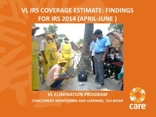 VL IRS COVERAGE ESTIMATE:  FINDINGS FOR IRS 2014 (April-June )