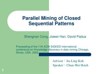 Parallel Mining of Closed Sequential Patterns