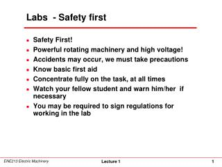 Labs  - Safety first