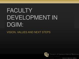 Faculty Development in DGIM: