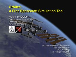 Orbiter: A Free Spacecraft Simulation Tool