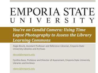 You're on Candid Camera: Using Time Lapse Photography to Assess the Library Learning Commons