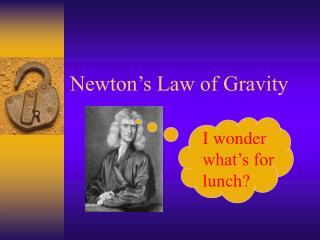 Newton s Law of Gravity