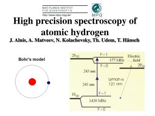 High precision spectroscopy of atomic hydrogen