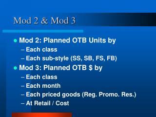 Mod 2 & Mod 3