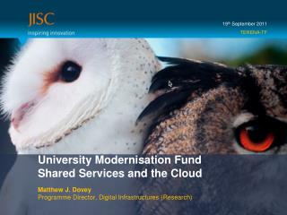 University Modernisation Fund  Shared Services and the Cloud