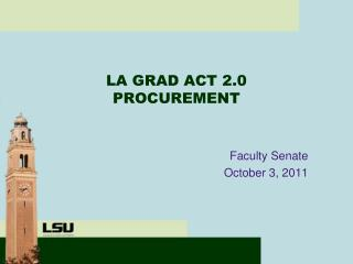 LA GRAD ACT 2.0 PROCUREMENT