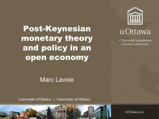 Post-Keynesian monetary theory and policy in an open economy
