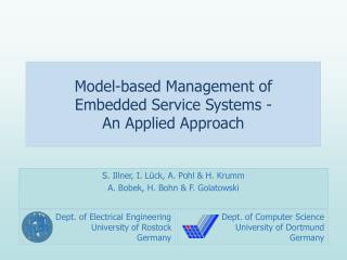 Model-based Management of  Embedded Service Systems - An Applied Approach