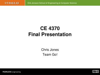 CE 4370 Final Presentation