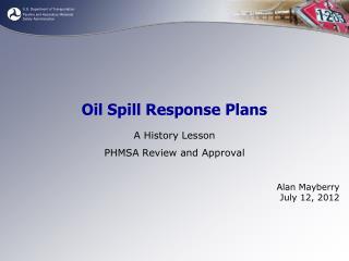 Oil Spill Response Plans