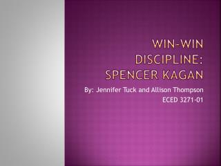 Win-Win Discipline: Spencer Kagan