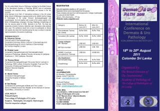 REGISTRATION Early bird registration deadline is  30 th  June 2011