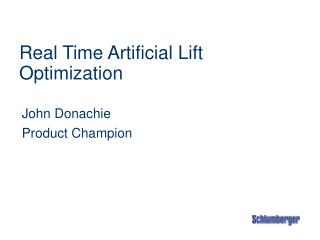 Real Time Artificial Lift Optimization