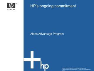 HP�s ongoing commitment